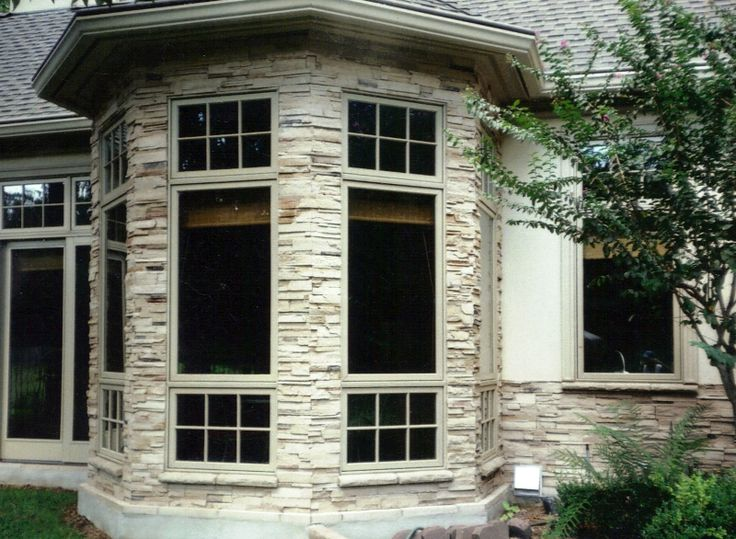 111 best images about dise os con piedras on pinterest for Bay window exterior designs