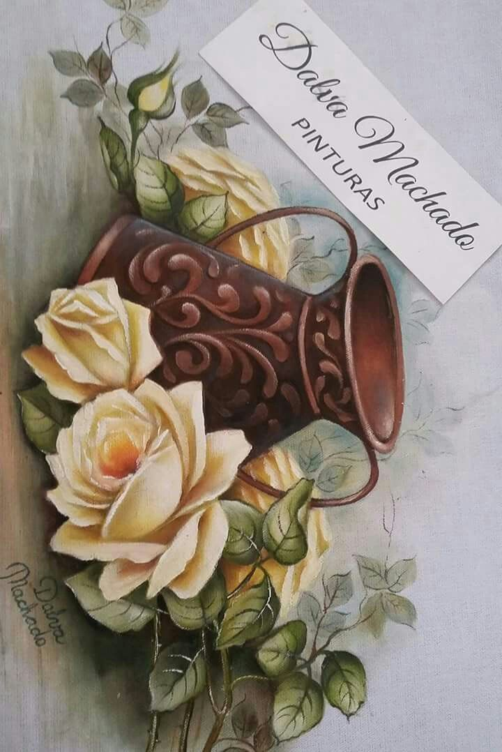 1000 images about flores on pinterest yellow roses for Pinturas para pintar