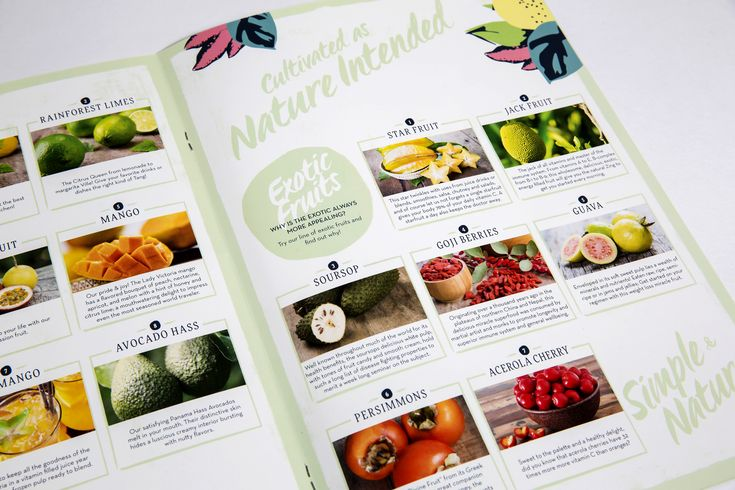Exotic catalogue design for tropical fruit wholesaler