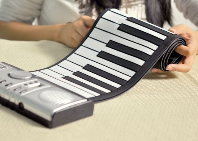 This is the most portable piano seen to date. Simply unroll your keyboard and plug into your USB port.