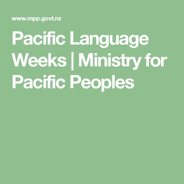 Pacific Language Weeks   Ministry for Pacific Peoples