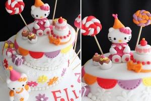 Besoin d'un gâteau d'anniversaire Hello Kitty pour l'anniversaire de votre enfant à Marseille? Dita Petrova Bensoussan est une talentueuse cake designer! (Kids birthday Hello Kitty)