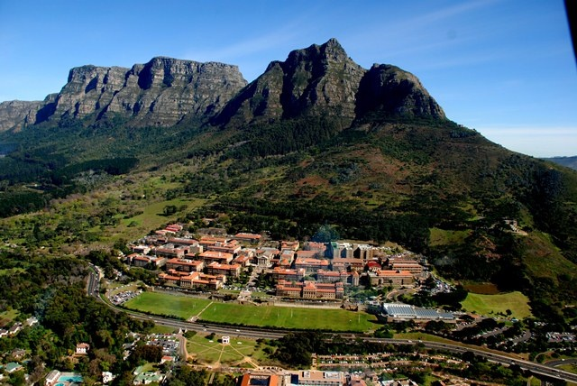 aerial view of University of Cape Town