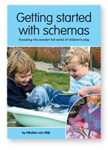 """Trajectory Schema - """"This schema is characterised by a fascination with movement, especially of things that fly through the air.  Children who are focused on trajectories love things like throwing balls, squirting water from a hose, splatting paint and being on a swing."""" From Auckland Playcentre Shop."""