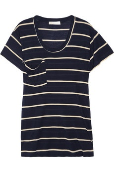striped modal tee: Navy And White, Summer Fashion, Stripes Clothing Summer, Modal T Shirts, Slouchy Tees, Stripes Modal, Stripes T Shirts, White Stripes, Perfect Tees
