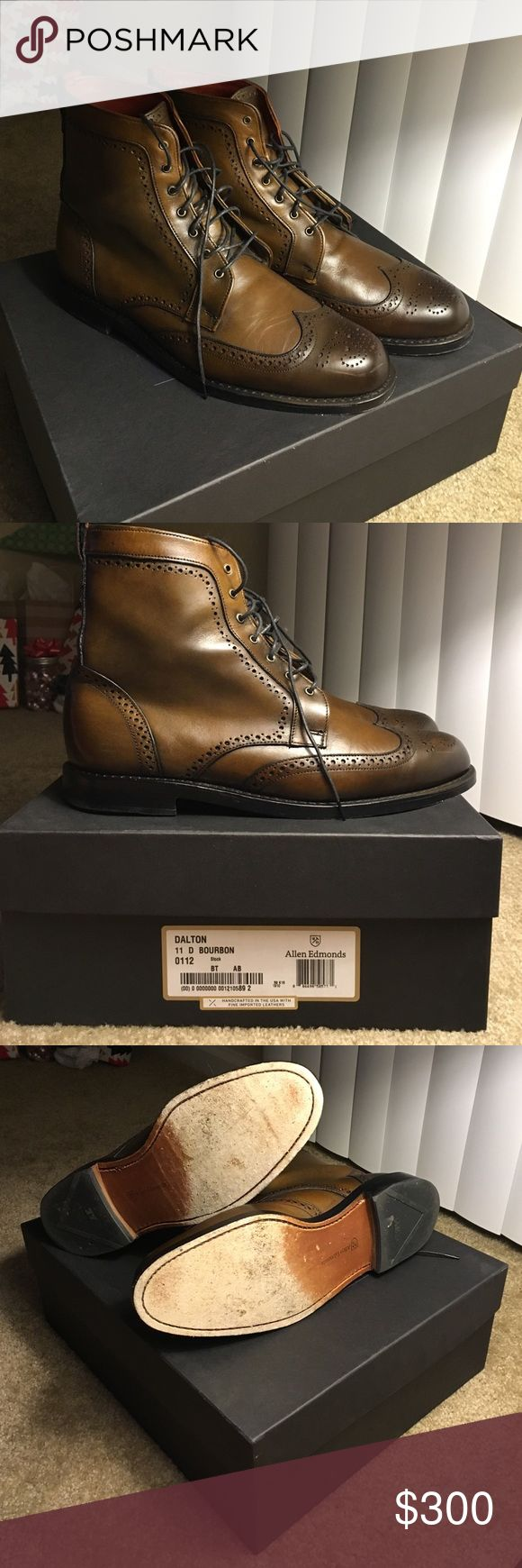 Allen Edmonds Dalton Wingtip (11D Bourbon Calf) Gently used pair of Allen Edmonds Dalton Wing Tip Boots. Allen Edmonds Shoes Boots