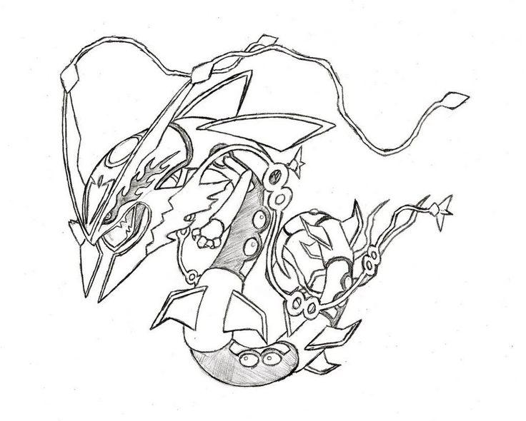 Legendary Pokemon Mega Rayquaza Drawing Pokemon Coloring Pages Pokemon Coloring Ninjago Coloring Pages