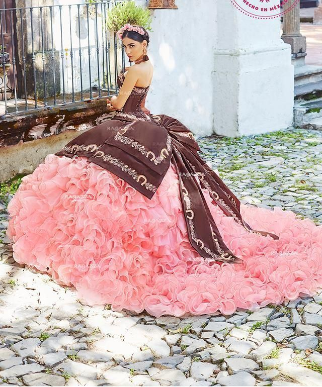 5f05811517e Ruffled Charro Quinceanera Dress by Ragazza Fashion Style M14-114 ...