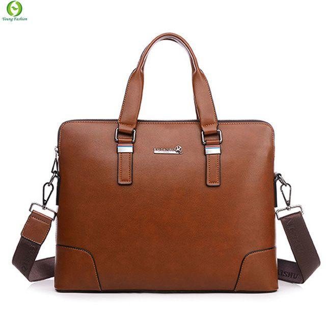Moda uomo valigetta in pelle uomini casual borse a tracolla di marca uomini uomini borsa a tracolla borsa affari borsa Del Computer Portatile nero blu marrone