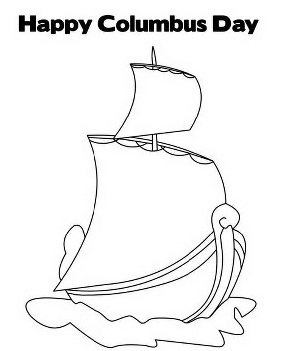 columbus day ships coloring pages - photo#24