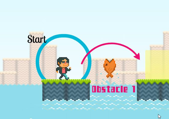 A fun, free Prezi template based on a video game where the hero overcomes obstacles to reach his goal