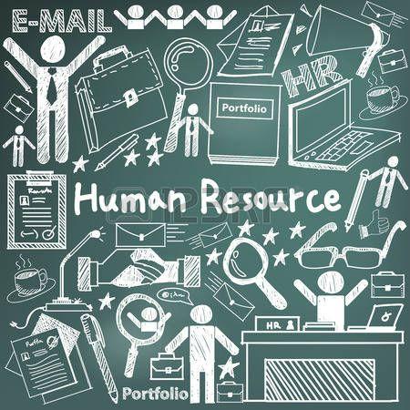 gesti�n de recursos humanos en la organizaci�n de escritura a mano icono del…
