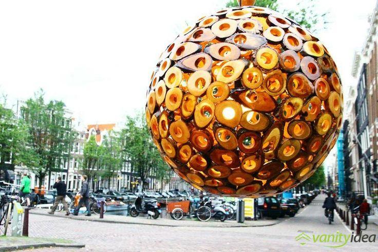 outdoor wooden lamp design