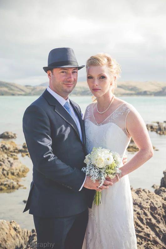 Plimmerton beach bridal portrait Wellington wedding photographer www.wellingtonphotography.net