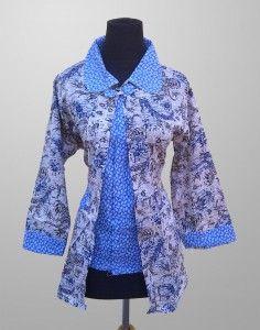 Blus Batik Wanita Cantik Dewasa Motif Kembang Kode KM 160 Kirim Pesan Ke 082134923704