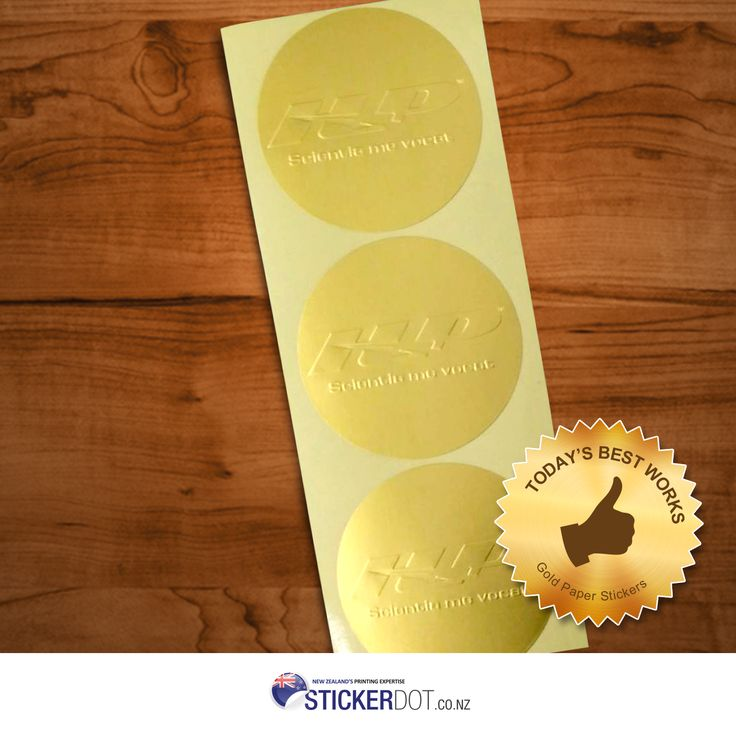 Gold Paper Stickers with embossed designs for @holisticperform. #goldpaperstickers #paperstickers #embossedstickers #customstickers #nzstickers #Auckland