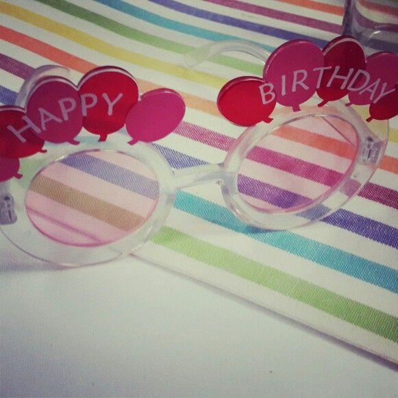 Birthday glasses for birthday girl