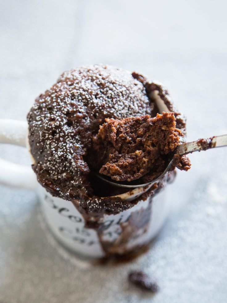 Easy Dark Chocolate Mug Cake. When an entire batch of brownies isn't in the cards.
