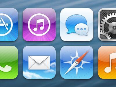 iOS icons by Louie Mantia