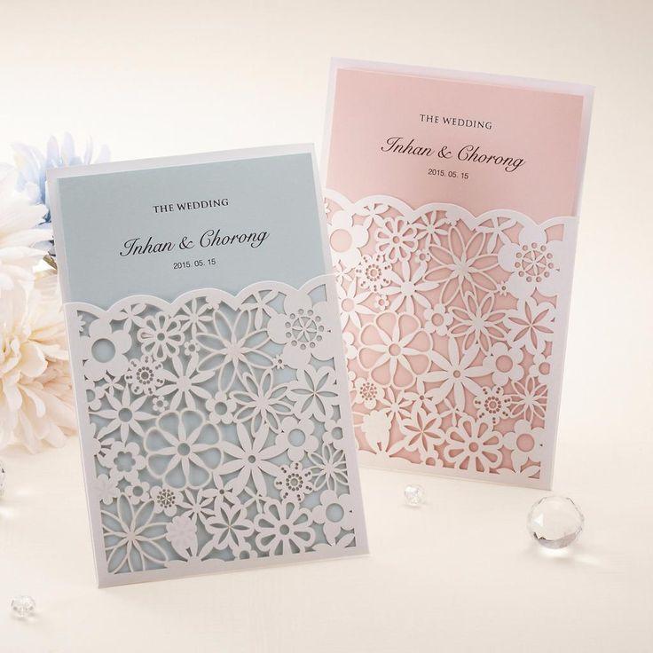 Cricut Explore Wedding Invitations: Laser Cut Lace Pocket Wedding Invitations