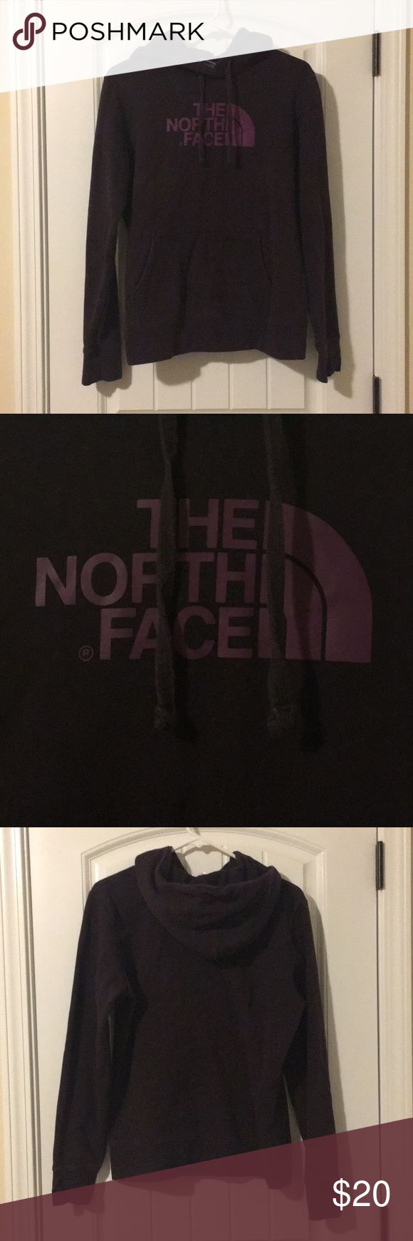 Brown North Face hoodie Brown North Face hoodie with burgundy writing. 80% cotton 20% polyester. Smoke free home. North Face Jackets & Coats