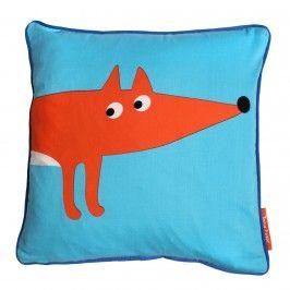 Blue Fox Organic Cotton Cushion