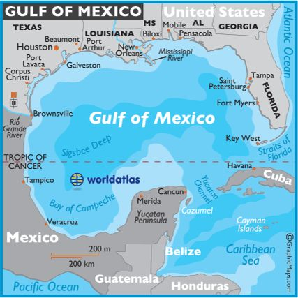 the gulf of mexico | Gulf of Mexico Map - Mexico Maps, Gulf of Mexico Facts Location ...