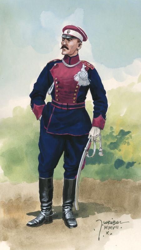 Ułan Legionu Puławskiego w mundurze galowym - rys. Jarosław Wróbel.