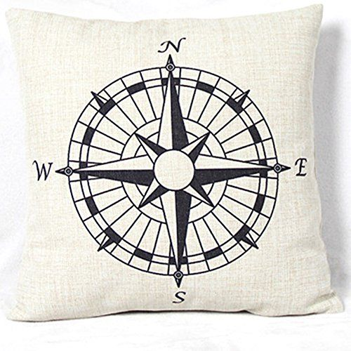 Vanki retro ocean serial Cotton Linen Square Decorative Throw Pillow Case Cushion Cover 18 x 18 inches ,black Compass pattern Vanki http://www.amazon.ca/dp/B017H5YG7S/ref=cm_sw_r_pi_dp_T6Qpwb0FD2SHM