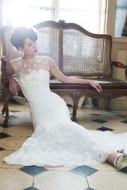 Kanten trouwjurken - Assepoester Feestkleding