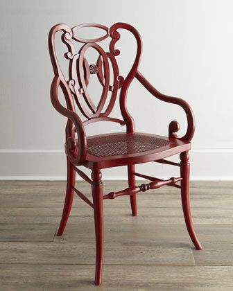 """Davinia"" Rattan-Seat Chair at Horchow.  #HORCHOW"