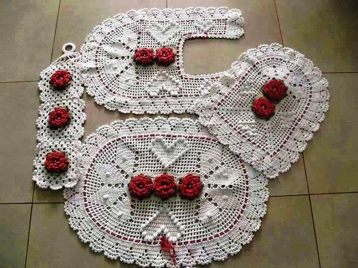 Juegos De Baño De Crochet:Juego de baño
