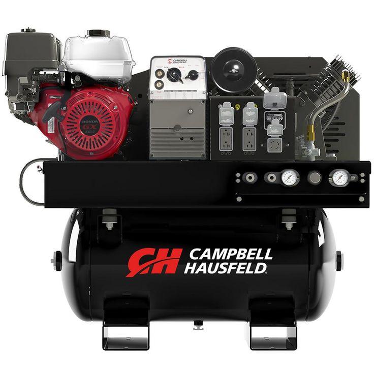Compressor/Generator/Welder Combination Unit, 30 Gal. Stationary Gas Compressor, 5000W Generator, 180A Welder (GR3200)