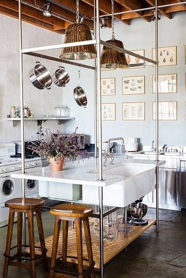 I've been noticing a trend in kitchen design as of late: some residential kitchens are starting to look a lot like commercial kitchens