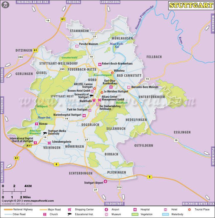 The Best Stuttgart Map Ideas On Pinterest In Germany - Germany map stuttgart