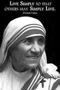 live simply mother teresa