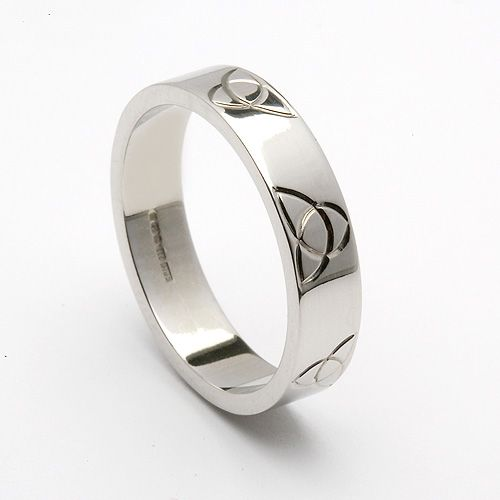 Sheelagh Trinity Wedding Band (C-3270) - Celtic Wedding Rings