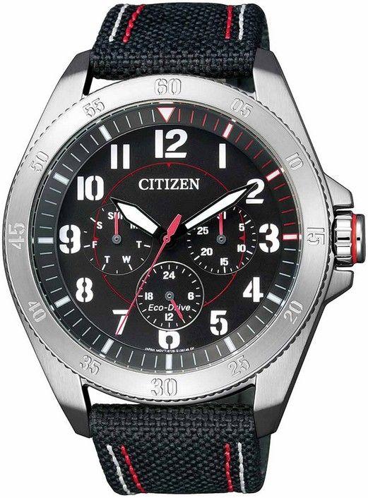 Montre Citizen eco-drive homme BU2030-17E, fonction date, cadran noir.