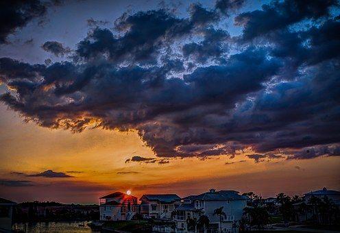 Florida, Storm Clouds, Światło