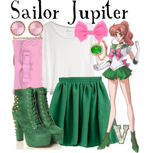 """Sailor Jupiter // someone in my class was sailor jupiter for Halloween"" by fabfandoms on Polyvore"