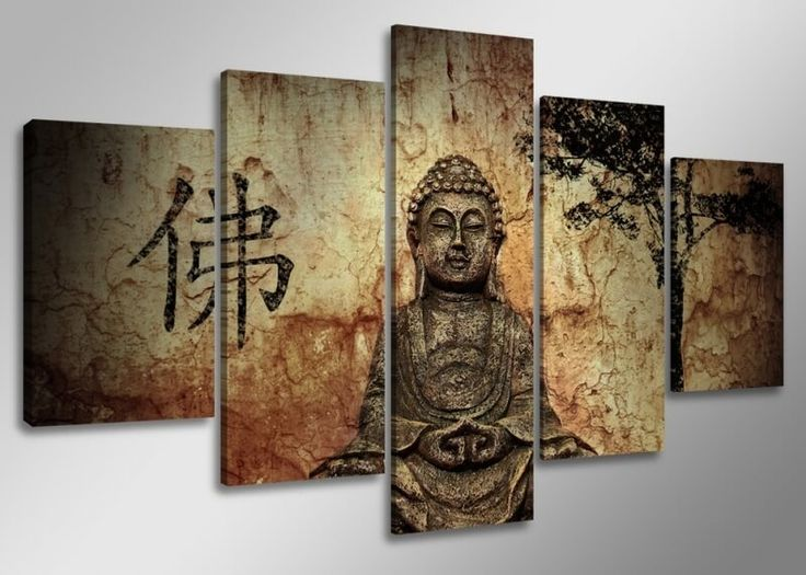 Dit Boeddha (canvas) schilderij is een van de best-sellers. Het kunstwerk bestaat uit 5 delen (5-luik). Dit kunstwerk past vrijwel bij ieder interieur. Vooral voor de Boeddha liefhebbers is dit een must-have voor in huis!