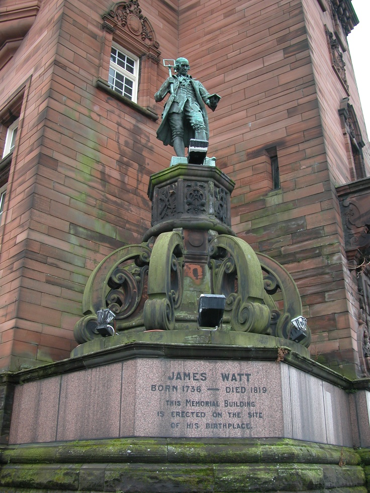 James Watt, who helped to commercialise the steam engine & laid the foundations for the Industrial Revolution. Greenock, Scotland