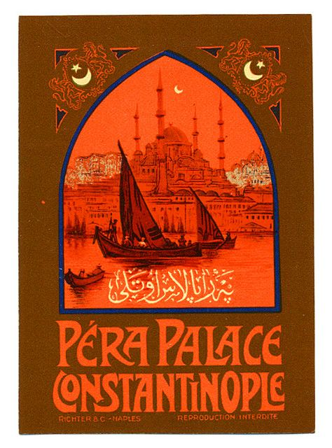 another gorgeous luggage label #turkey #constantinople #turkey