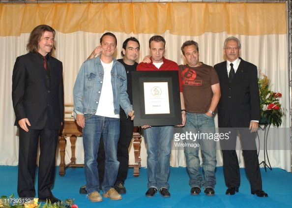Hombres G during Latin Recording Academy VIP Event at Museo Patio Herreriano in Valladolid, Spain, United States.