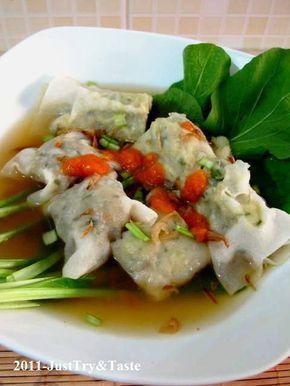 Just Try & Taste: Pangsit Kuah Isi Daging Ayam & Sayuran
