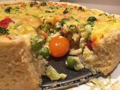 Torta de Muitas Verduras! 200 g de manteiga 4 colheres de sopa de queijo parmesão ralado 2 1/2 xícaras de farinha de trigo Recheio: 1 xícara de leite 100g de queijo parmesão ralado 2 ovos inteiros 3 colheres de cafezinho de sal para cozinhar as verduras 1 batata doce média 1/2 abobrinha 2 flores de brócolis 1 cenoura 10 vagens holandesas 4 colheres de sopa de ervilha fresca se tiver 1 xuxu pequeno 8 tomatinhos Você pode usar as verduras que tiver em casa e que gosta… batata, mandioquinha…