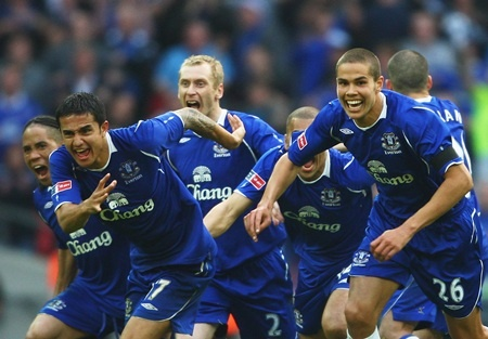 Everton FA Cup Tim Cahill
