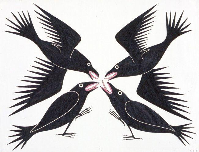 Meeting of Ravens by Kenojuak Ashevak
