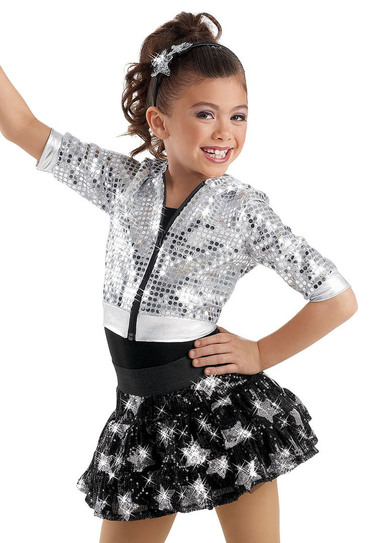 Weissman™ | Crop Sequin Hoodie Star Skirt