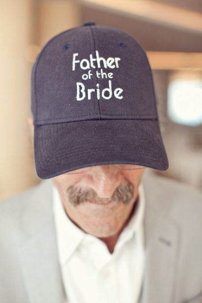 We all see cute Mother of the Bride items for the morning of the big day, so why not a cute hat for your dad too? Love the idea!